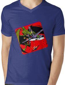 Dinowar Mens V-Neck T-Shirt