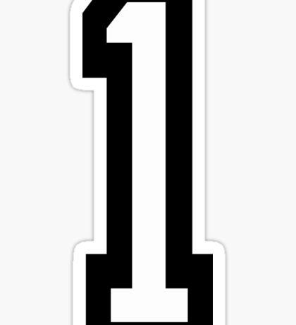 1, TEAM SPORTS, NUMBER 1, ONE, FIRST, Numero Uno, Uno, Ichi, Win, Winner, Competition Sticker