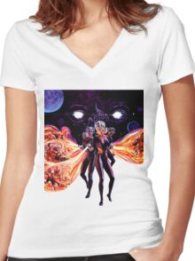 Fire Maidens Women's Fitted V-Neck T-Shirt