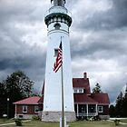 Seul Choix Point Lighthouse in Michigan's Upper Peninsula by Randall Nyhof