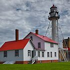 Lighthouse at Whitefish Point in the Upper Peninsula in Michigan by Randall Nyhof
