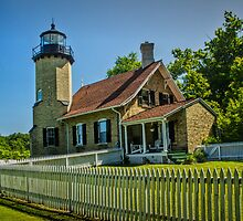White River Lighthouse in Whitehall Michigan by Randall Nyhof