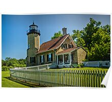 White River Lighthouse in Whitehall Michigan Poster