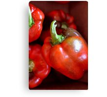 Crisp Red Peppers  Canvas Print