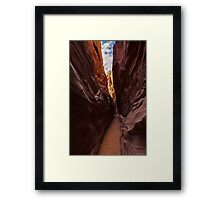Spooky Gulch Slot Canyon Framed Print