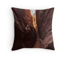 Spooky Gulch Slot Canyon Throw Pillow