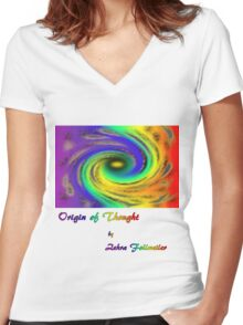 Origin of Thought Women's Fitted V-Neck T-Shirt