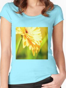 Bright Sunny Yellow Flower Women's Fitted Scoop T-Shirt