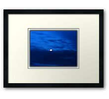 ©HCS Blue Sky And Moon I Framed Print