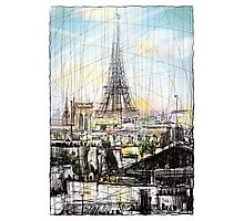 Paris 10 in colour Photographic Print