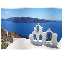 Church bells in Santorini Poster