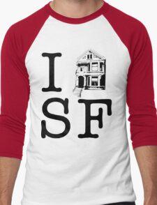 I Painted Lady SF Men's Baseball ¾ T-Shirt