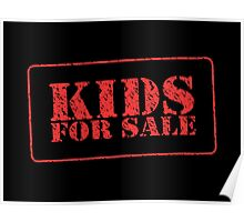 Kids for sale Stamp TEE Poster