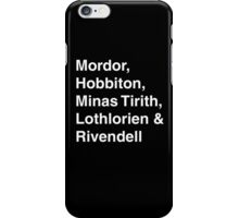 Kingdoms of Middle Earth iPhone Case/Skin