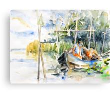 At The Fish Trap Canvas Print