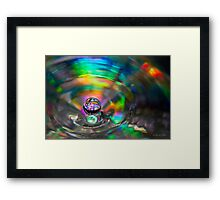 A Droplet of Colour Framed Print