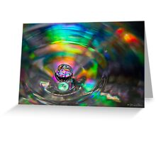 A Droplet of Colour Greeting Card