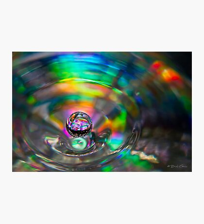 A Droplet of Colour Photographic Print
