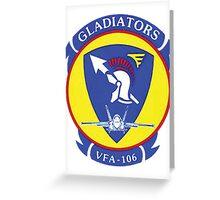 VFA106 Gladiators Greeting Card