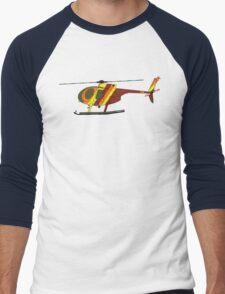 Hughes 500D Helicopter Men's Baseball ¾ T-Shirt