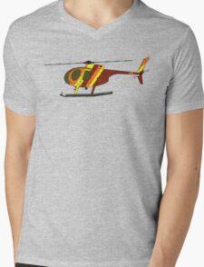 Hughes 500D Helicopter Mens V-Neck T-Shirt