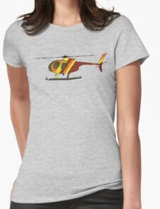 Hughes 500D Helicopter Womens Fitted T-Shirt