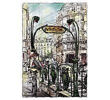 Paris 6 in colour Photographic Print