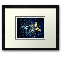 Birdfight Framed Print