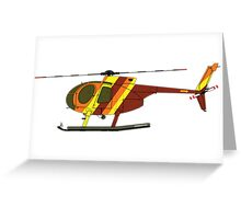 Hughes 500D Helicopter Greeting Card