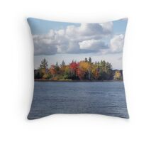 Autumn Waters in Muskoka Throw Pillow