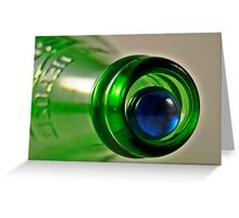 Bottle and Marble 2 Greeting Card