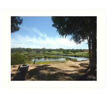 Werribee River & Golf course Art Print