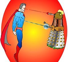 Superman VS Dalek by Skree
