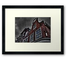 Old Dutch houses HDR Framed Print