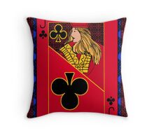 Jack of Clubs Throw Pillow