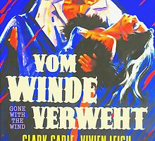 German poster of Gone with the Wind by Art Cinema Gallery
