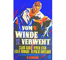 German poster of Gone with the Wind Photographic Print