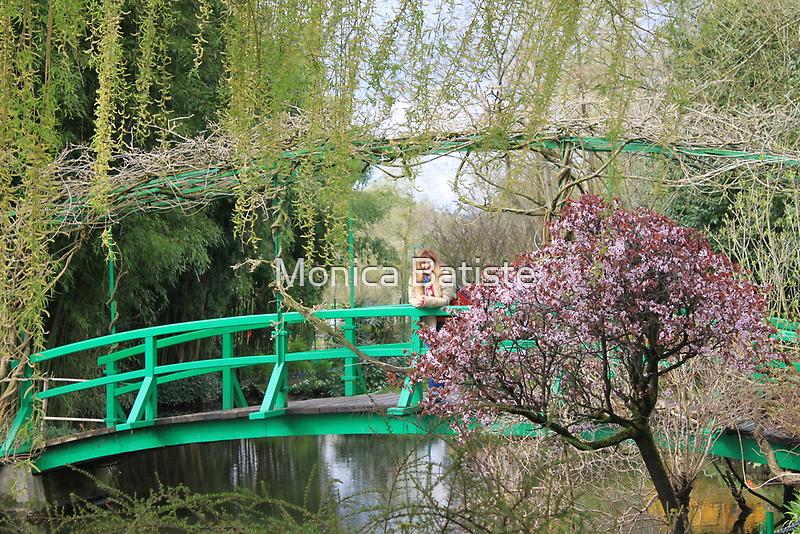 The Bridge in Monet's water lillies paintings by Monica Batiste