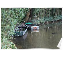 Boats on Monet's pond at Giverny Poster