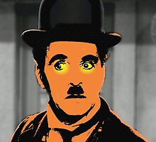 Charles Chaplin Charlot in The Great Dictator by Art Cinema Gallery