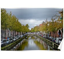 Dutch town (Delft) Poster