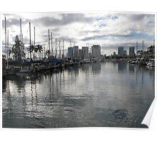 Evening Harbor~Honolulu Poster