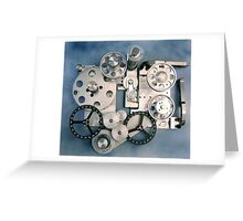 Clouded Gears Greeting Card