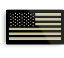 AMERICAN, ARMY, reverse side flag, Soldier, American Military, Arm Flag, US Military, IR, Infrared, USA, Flag, on BLACK Metal Print