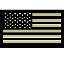 AMERICAN, ARMY, reverse side flag, Soldier, American Military, Arm Flag, US Military, IR, Infrared, USA, Flag, on BLACK Photographic Print