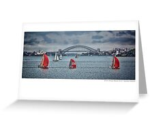 Sports Boat Panoramic - Sydney Greeting Card