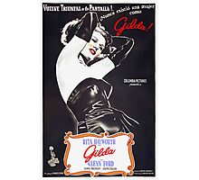 Argentinian poster of Gilda Photographic Print
