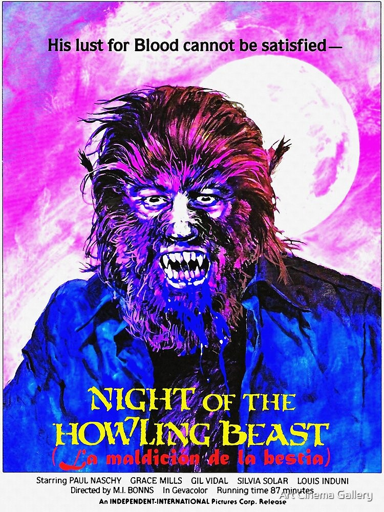 English-USA poster of La maldición de la bestia by Art Cinema Gallery