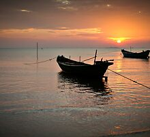 Ha Tien Sunset by Brad Grove