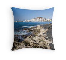 Tenerife Coastline Throw Pillow